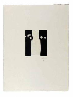 Eduardo Chillida (1924-2002), Homenaje a Balenciaga II, 1988. Etching on Japanese paper. Plate size: 19.5cm H x 16.5cm W. Sheet size: 65cm H x 50cm W. Edition of 50 copies.
