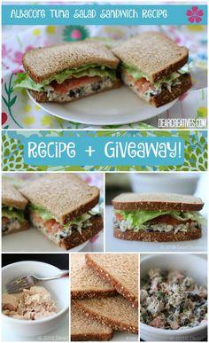 Sanwich Ideas Tuna Sandwich Recipe and Giveaway