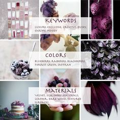 Dusky Berry keywords My color trend presentation 2015/16 for Global Color Research  | DUSKY BERRY | Part I