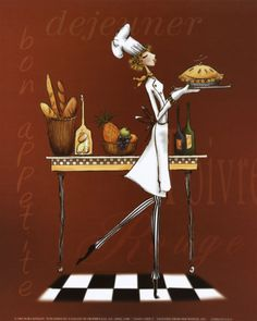 Sassy Chef I Print by Mara Kinsley at Art.com