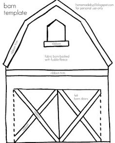 homemade by jill: quiet book templates for barn, flower, letterbox