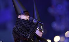 Neil Tennant performed during the Closing Ceremony