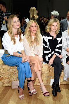 Pin for Later: The Stars Are Flocking to the Front Rows For the Last Day of PFW Rosie Huntington-Whiteley, Ellie Goulding, and Clémence Poésy Rosie Huntington-Whiteley, Ellie Goulding, and Clémence Poésy at the Chloé show.