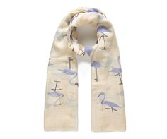A fun soft and oversized lightweight fashion scarf featuring a cool blue flamingo print. This scarf is lightweight and suitable for both outdoor and indoor use all year round. These beautiful scarves could also be used as sarongs, breast feeding covers and shawls. Approx Size: 85x180cmMaterial: 35% Viscose 65% PolyesterCare: &nb...