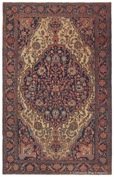 FERAHAN SAROUK, West Central Persian 4ft 3in x 6ft 9in Late 19th Century http://gallery.claremontrug.com/gallery/?p=1&g=4&gg=Claremont%202%20-%20Fabulous%20Old%20Rugs!