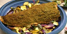 Great Recipes, Healthy Recipes, Baked Salmon Recipes, Salmon Fillets, Roasted Vegetables, Pesto, A Food, Food Processor Recipes, Meals
