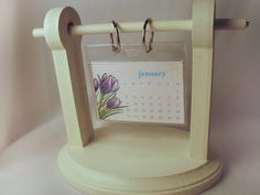 Badge holder calendar - tutorial - bjl