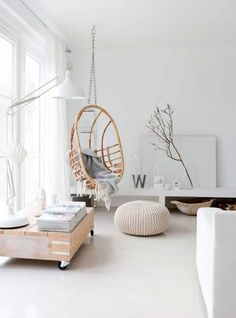 More than 55 magnificent Scandinavian interior design ideas - Scandinavian Design Trends - Have Best Home Decor ! Scandinavian Interior Design, Scandinavian Living, Home Interior Design, Interior Ikea, Classic Interior, Papasan Chair, Furniture Making, Hanging Chair, Chair Design
