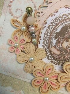 Crafty Thinkings of an Uncrafty person: Quilled Shabby Chic Vintage Card