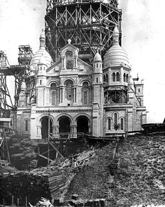 The Basilique Du Sacre-Coeur Under Construction Paris