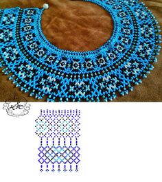 Фотографии Натали Ховалко beautiful blue beaded necklace with a pattern