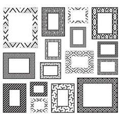 Black/White Frame Kit - Jonathan Adler WallPops