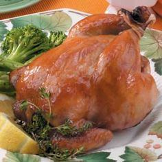 Apple-Glazed Cornish Hens Recipe
