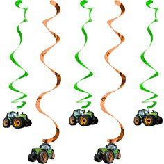 5 Spiralhänger Traktor Party