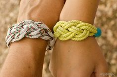DIY Camping Bracelets | Nautical knot bracelets, great craft for camp and with kids | personallyandrea.com