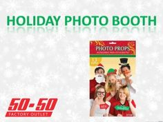A holiday photobooth is a great idea for any christmas party this year! Check out our other great ideas and decorations at www.5050factoryoutlet.com  #christmas #craft #kidsactivity #party #holiday #fun #party #partystore #supplies #games #decorations #props #photobooth