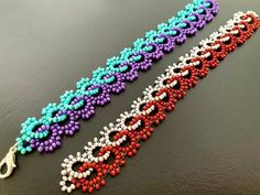 Making Bracelets With Beads, Seed Bead Bracelets, Seed Bead Jewelry, Bead Jewellery, Seed Beads, Fuse Beads, Perler Beads, Wire Jewelry, Seed Bead Tutorials