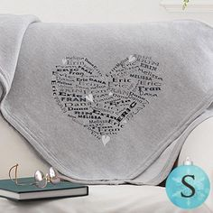Give that special woman in your life a gift they can cherish forever with the Her Heart of Love Personalized Sweatshirt Blanket. Find the best personalized ladies gifts at PersonalizationMall.com