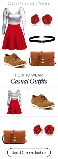 """""""Casual Dress with Oxfords"""" by alleyhays on Polyvore featuring Timberland, WithChic, Bling Jewelry and BillyTheTree"""