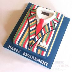 Retirement Cake - Stripes << By Cirencester Cupcakes/ Louise Carruthers Cake Design