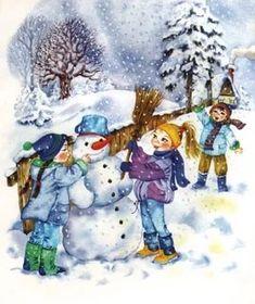 Preschool Christmas, Winter Christmas, Kids Christmas, Vintage Christmas, Winter Magic, Winter Art, Montessori Activities, Cartoon Pics, Illustrations