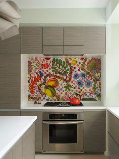 colorful backsplash design