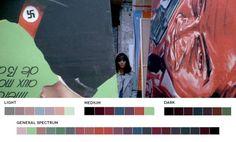Colores triádicos - paletas cromáticas en el revelado de películas - http://hipertextual.com/2015/12/paletas-de-colores
