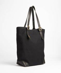 Canvas Tote Bag In Black