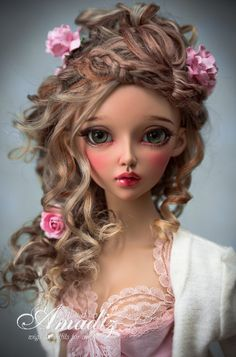 Amadiz Studio wig on Fairyland Feeple60 Chloe.  Wow, that's gorgeous--the doll and the wig and everything.