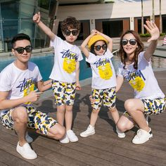 Casual Family Set Cotton T shirts+Shorts 2pcs Mother and Daughter Father Son Family Clothing Sets Family Style Clothes 3XL CY79