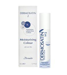 DERMOSATIN Nº2 Crema hidratante con color  DERMOSATIN, crema de día hidratante color, hidrata y protege, realzando al mismo tiempo el tono natural de la piel.