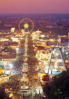The Munich Oktoberfest is the world's largest folk festival, attracting over six million visitors every year. It takes place in Munich in late September at the Theresienwiese. Beltane, Samhain, Oh The Places You'll Go, Places To Travel, Travel Destinations, Beautiful World, Beautiful Places, Amazing Places, Munich Oktoberfest