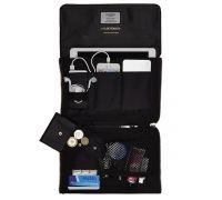 Elektronista Digital Clutch Bag - Black Leather   KNOMO