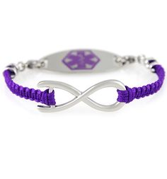 Awareness In Purple Medical Id Bracelet At Laurens Hope Epilepsy Seizure
