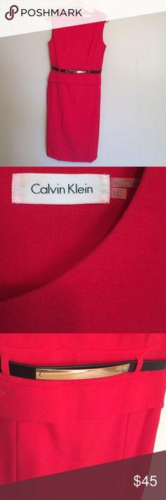 Selling this Calvin Cline Red Dress on Poshmark! My username is: mcdonss. #shopmycloset #poshmark #fashion #shopping #style #forsale #Calvin Klein #Dresses & Skirts