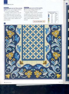 miniature rug w/floral border Cross Stitch Borders, Cross Stitch Designs, Cross Stitching, Diy Embroidery, Cross Stitch Embroidery, Embroidery Patterns, Chart Design, Tapestry Crochet, Loom Beading