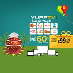 #YuppTV #Pongal Offer for #Australia customers. Save upto 60% and grab Yupp Telugu Silver package at just $99.99/year.. #YuppTVAUS Get it @ http://www.yupptv.com/allpackages.aspx