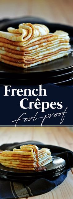 "The Classic French ""Crêpes de Froment"" are a must for your baking repertoire. Breakfast Crepes, Crepes And Waffles, Mexican Breakfast, Breakfast Sandwiches, Breakfast Bowls, Dinner Crepes, Breakfast Ideas, Crapes Recipe, Breakfast"