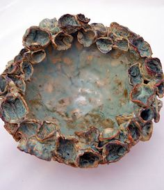 Turquoise Flower Big Bowl