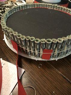 How I built my stepdaughter's money cake – Maria Kang Diy Graduation Gifts, Graduation Party Planning, Graduation Celebration, Graduation Party Decor, Graduation Ideas, Graduation Message, Graduation Ornament, Graduation Cake, College Graduation