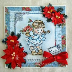 Scrapcards by Marlies: A Christmas flower