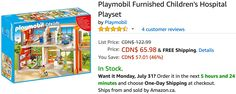 Amazon Canada Deals: Save 46% on Playmobil Furnished Childrens Hospital Playset 28% on LEGO Technic Heavy Lift... http://www.lavahotdeals.com/ca/cheap/amazon-canada-deals-save-46-playmobil-furnished-childrens/229567?utm_source=pinterest&utm_medium=rss&utm_campaign=at_lavahotdeals