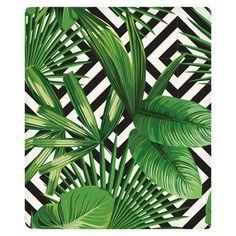 Palms Over Diamonds Fleece Throw