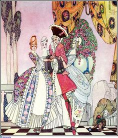 The Twelve Dancing Princesses, illustration by Kay Nielsen Kay Nielsen, Alphonse Mucha, Art Nouveau, Harry Clarke, Fable, Arthur Rackham, William Blake, Fairytale Art, Animation