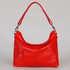 MAX SMALL RED--Adeleshop handmade clip on hobo laptop messenger satchel shoulder cross body bag. $135.00, via Etsy.