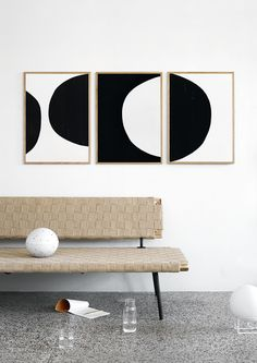 Atelier CPH - new poster collection - Hege in France minimal black and white styling with black and white posters from the circles collection