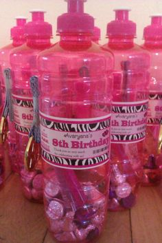 Joshua's 9th birthday party goodie bottle. in white. need to find a place that makes colourful labels (for cheep)
