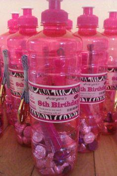 Avaryana's gymnastics 8th birthday party favors