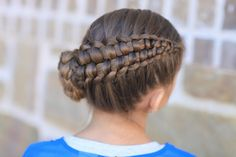 Zipper Braid by Cute Girls Hairstyles.  This looks so much harder then it really is!  Just give it a try!