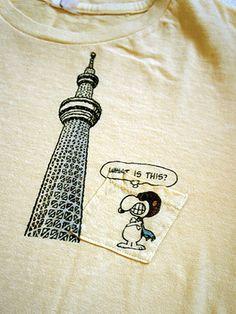 JACKSON MATISSE SNOOPY×Tokyo Skytree T-shirt